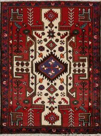 Tribal Geometric Bakhtiari Persian Area Rug 3x5