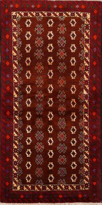 All-Over Geometric Balouch Persian Area Rug 3x6