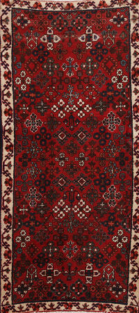 All-Over Geometric Joshaghan Persian Runner Rug 2x5
