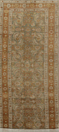 Pre-1900 Antique Vegetable Dye Bidjar Persian Runner Rug 4x13