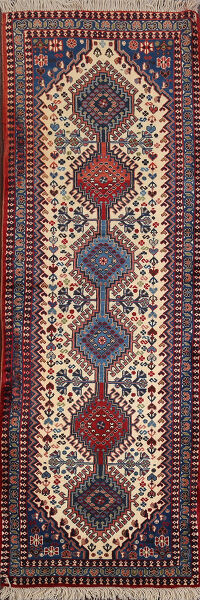 South-western Geometric Yalameh Persian Runner Rug 2x6