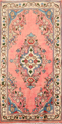 Pink Floral Lilian Persian Area Rug 2x4