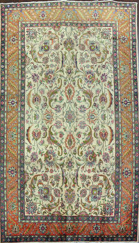 Antique All-Over Floral Tabriz Persian Area Rug 7x11