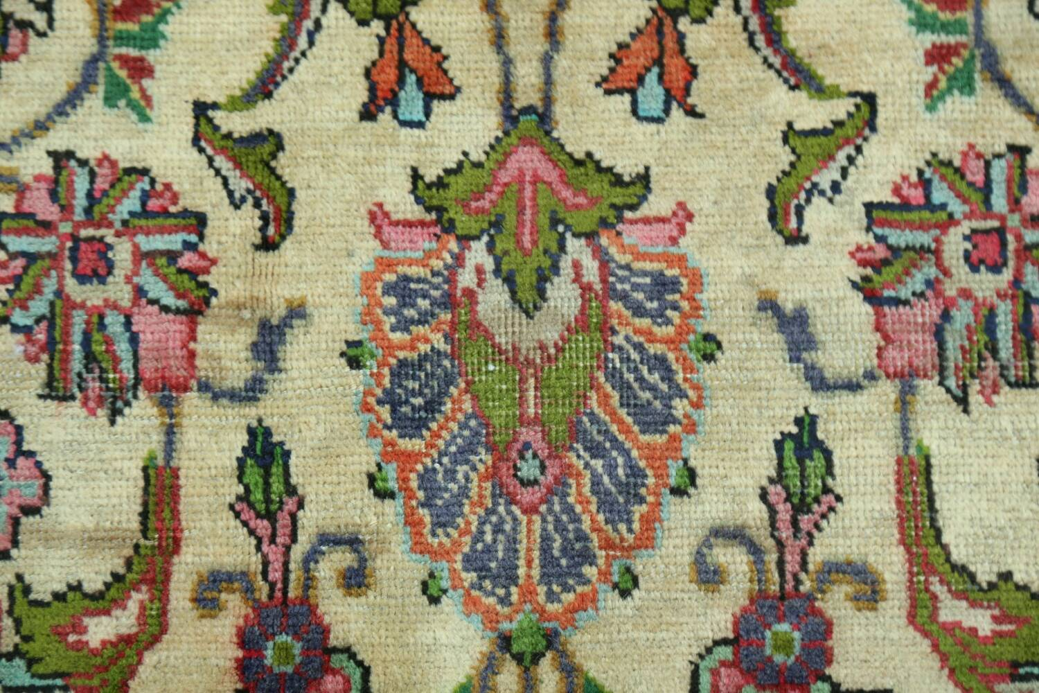 Antique All-Over Floral Tabriz Persian Area Rug 7x11 image 9