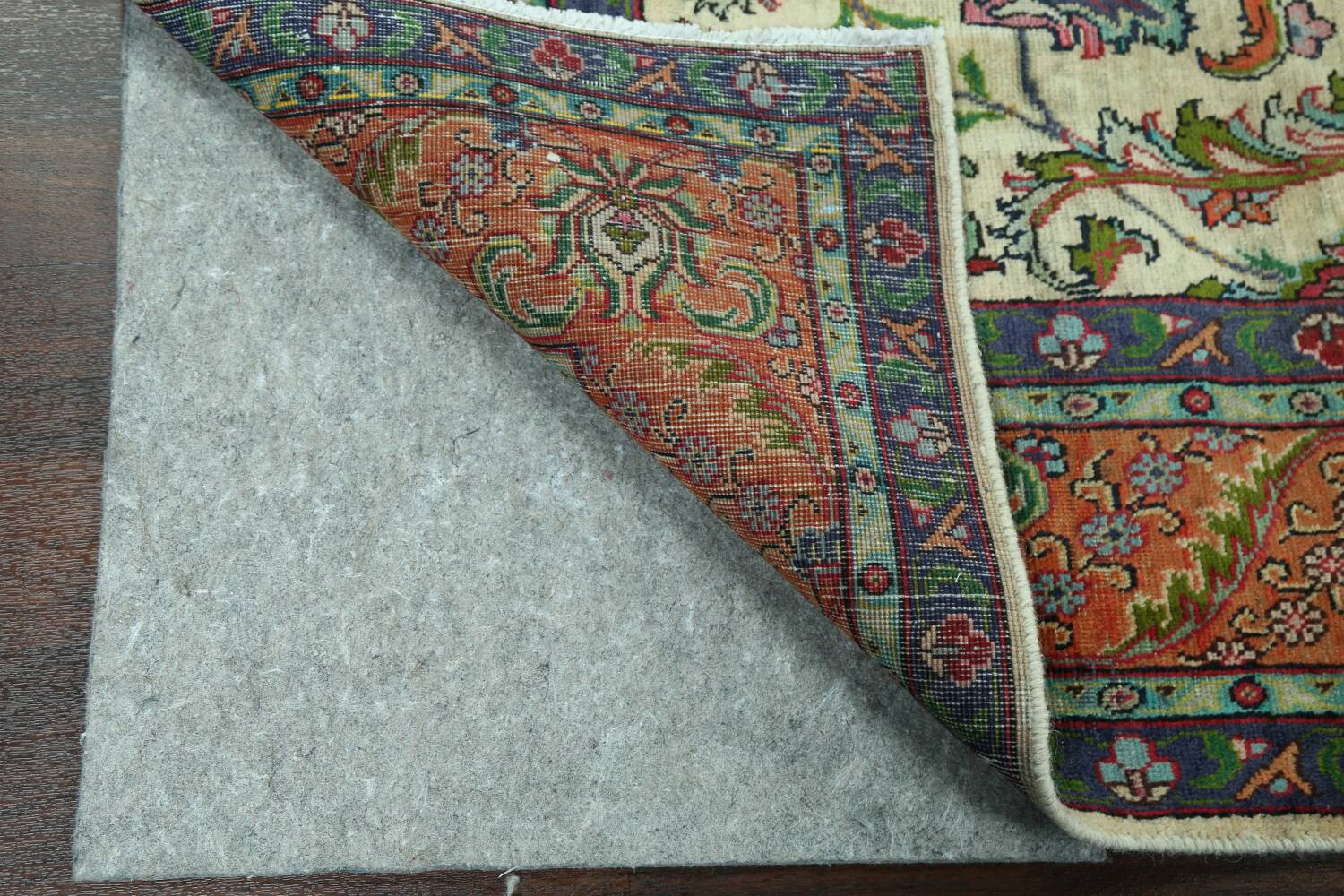 Antique All-Over Floral Tabriz Persian Area Rug 7x11 image 7