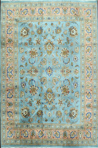 Light Blue Vegetable Dye Sultanabad Persian Area Rug 8x10