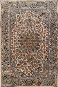 Vintage Floral Najafabad Persian Area Rug 10x13