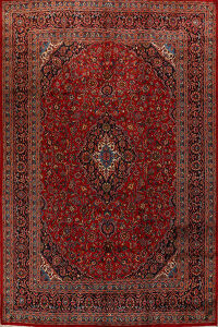Floral Red Mashad Persian Area Rug 10x13