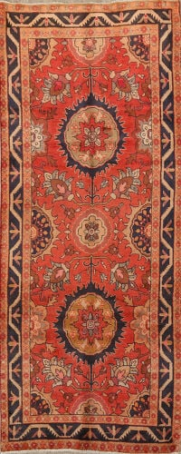 Floral Sultanabad Persian Runner Rug 4x9