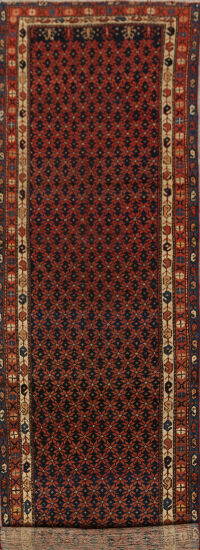 Antique Vegetable Dye Malayer Persian Runner Rug 3x13