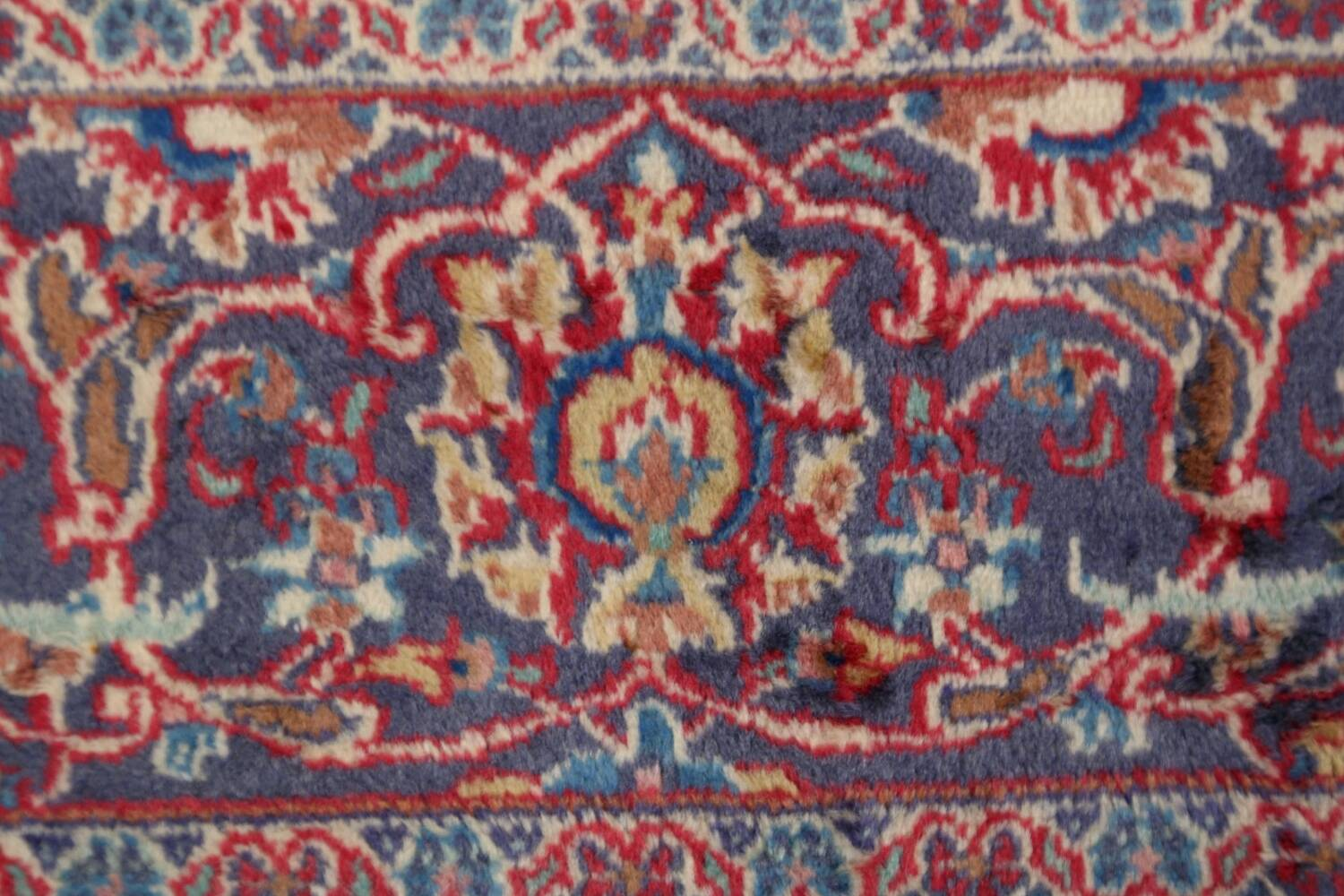 Vintage Floral Red Mashad Persian Area Rug 10x12 image 9