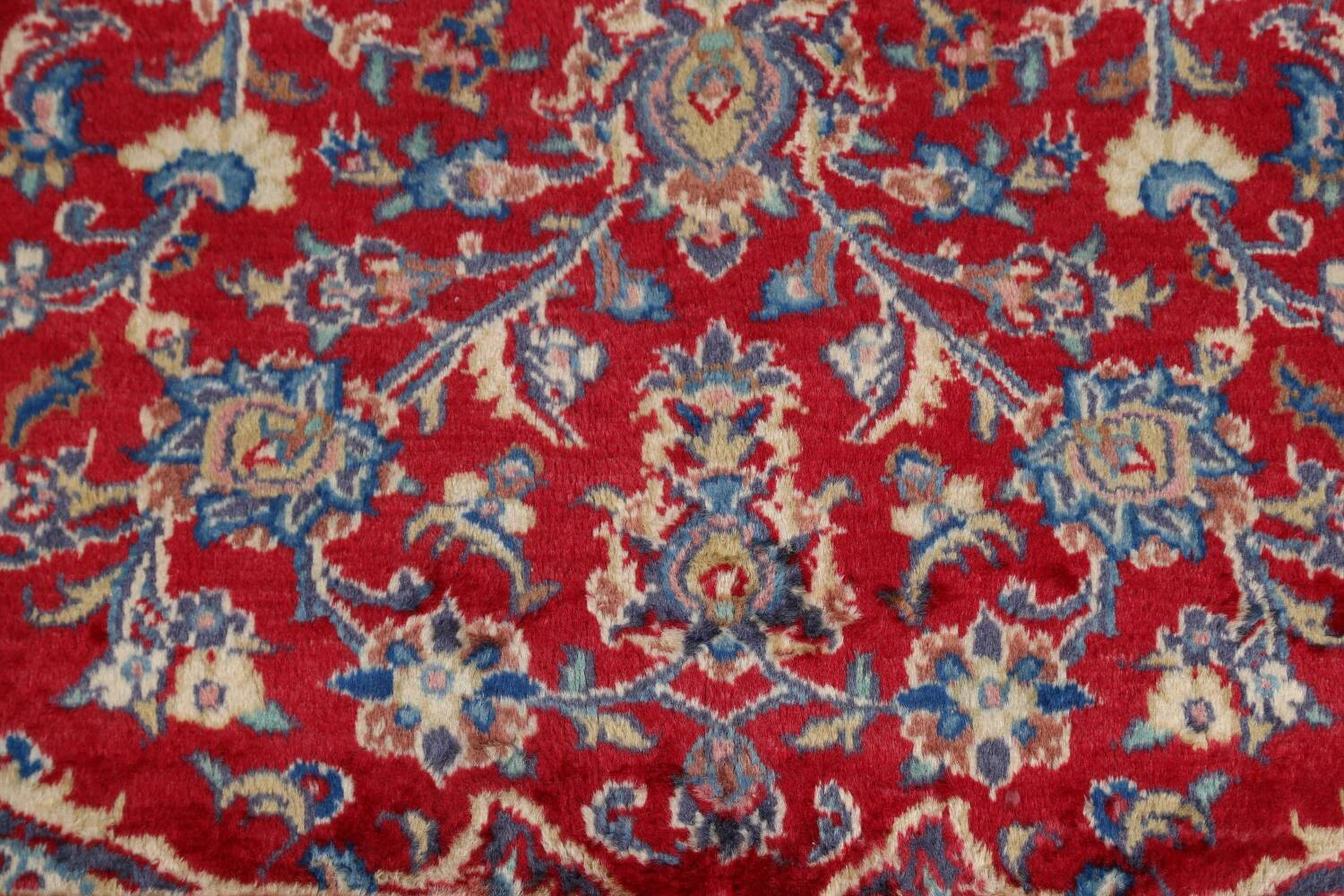 Vintage Floral Red Mashad Persian Area Rug 10x12 image 10