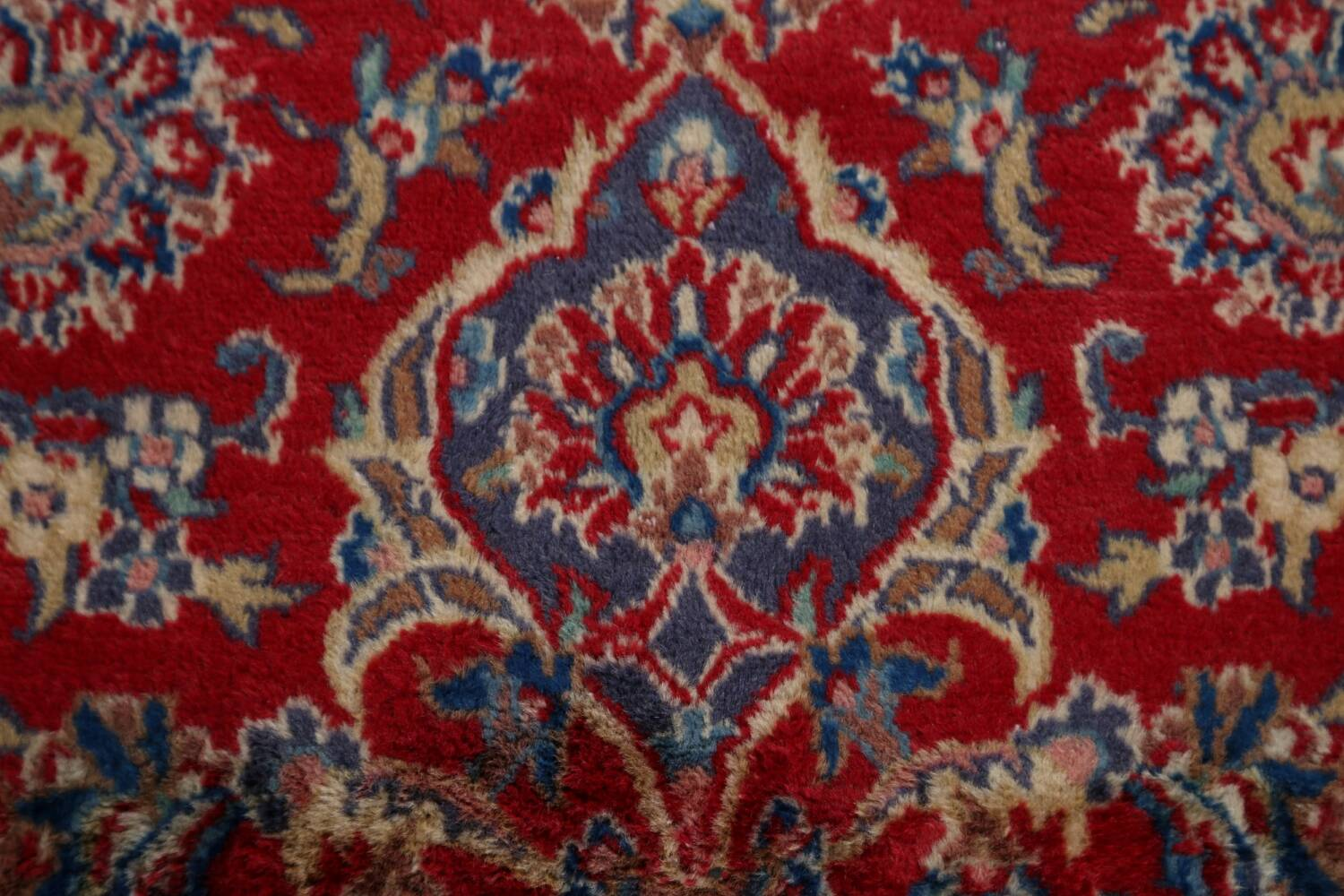 Vintage Floral Red Mashad Persian Area Rug 10x12 image 11