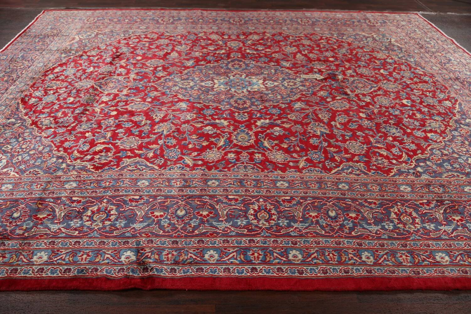 Vintage Floral Red Mashad Persian Area Rug 10x12 image 14