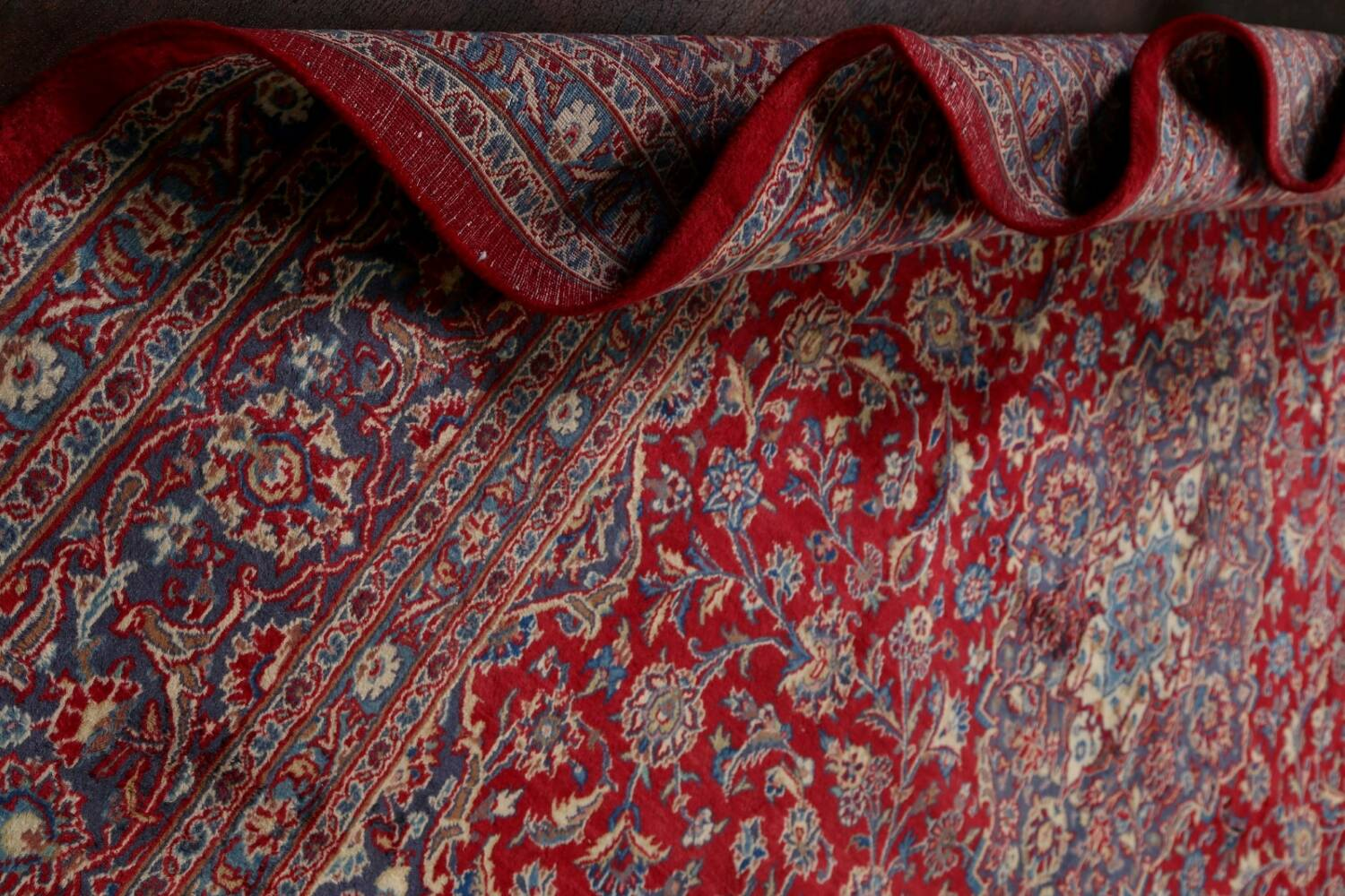 Vintage Floral Red Mashad Persian Area Rug 10x12 image 20