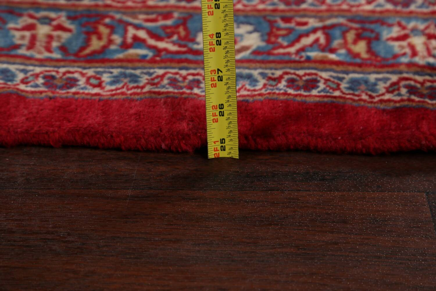 Vintage Floral Red Mashad Persian Area Rug 10x12 image 22