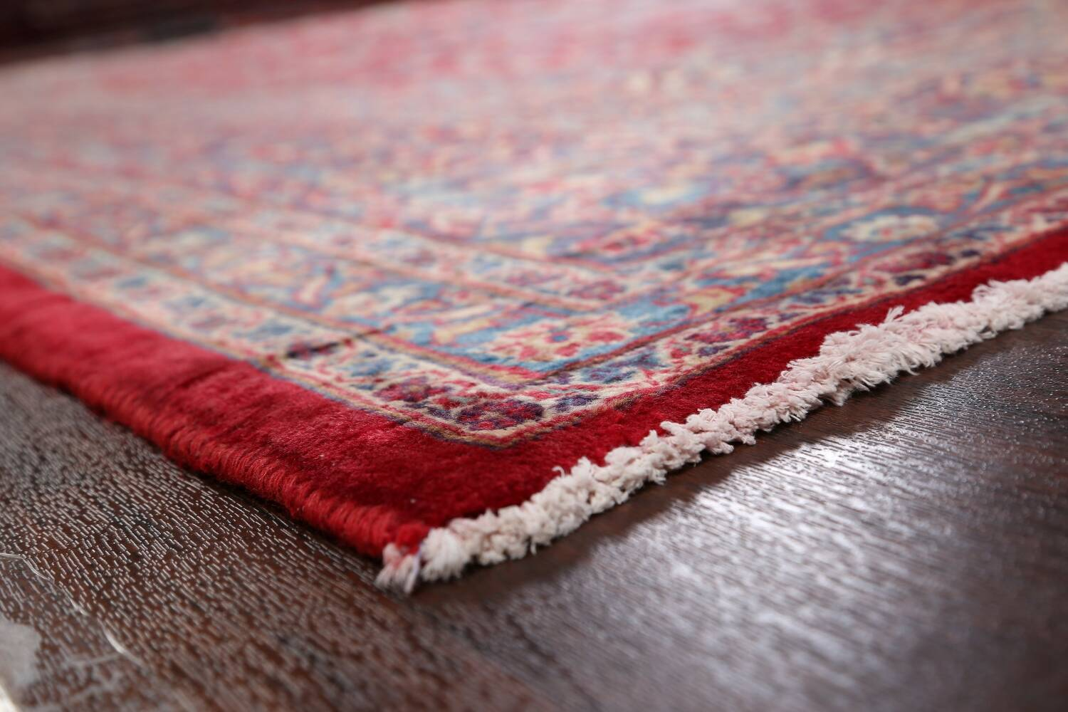 Vintage Floral Red Mashad Persian Area Rug 10x12 image 6