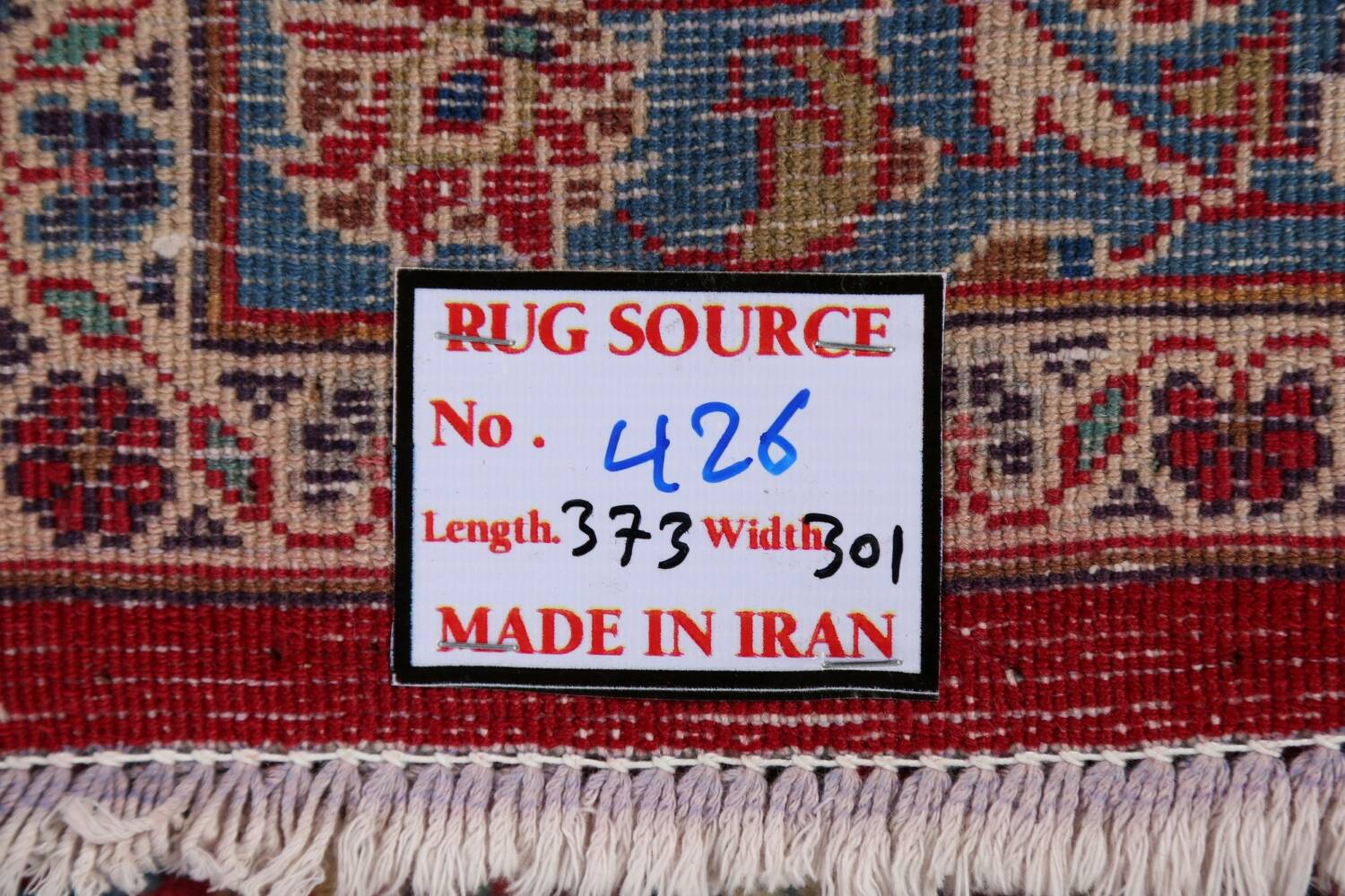 Vintage Floral Red Mashad Persian Area Rug 10x12 image 24