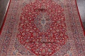 Vintage Floral Red Mashad Persian Area Rug 10x12 image 3