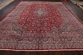 Vintage Floral Red Mashad Persian Area Rug 10x12 image 18