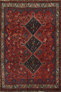 Antique 100% Vegetable Dye Lori Persian Area Rug 8x10