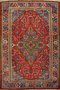 Floral Red Lilian Persian Area Rug 8x11