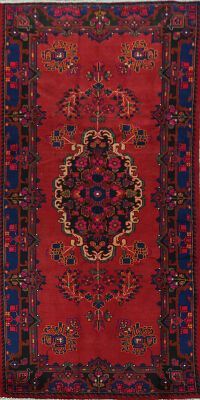 Geometric Red Lilian Persian Area Rug 5x10