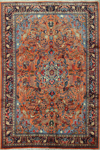 Animal Pictorial Floral Lilian Persian Area Rug 7x10