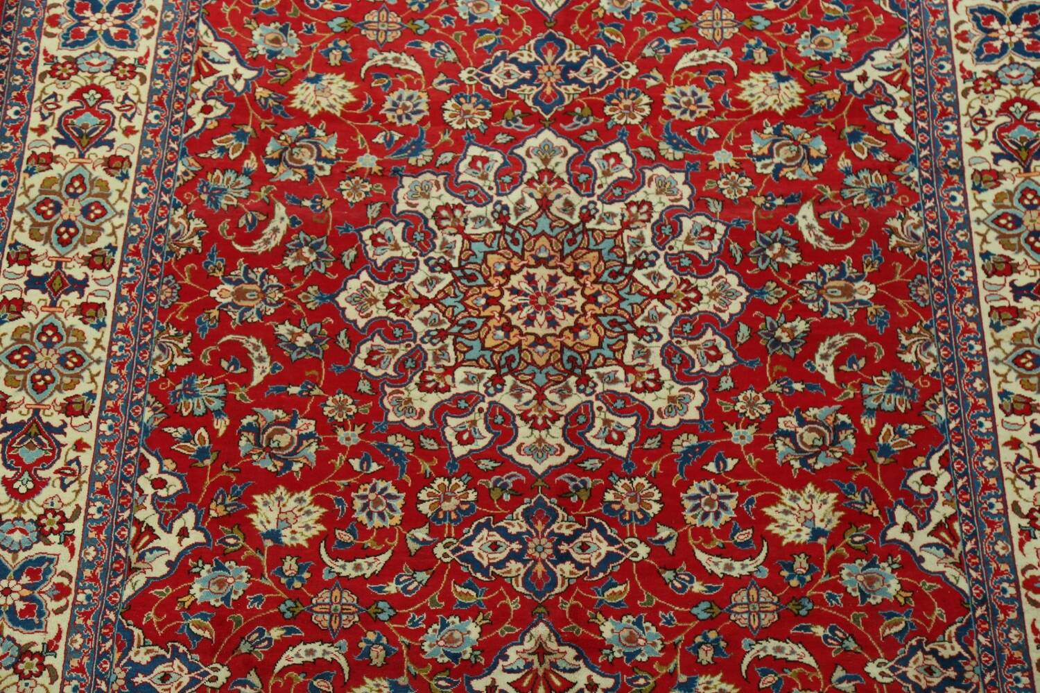 Vintage Floral Red Najafabad Persian Area Rug 8x12 image 4