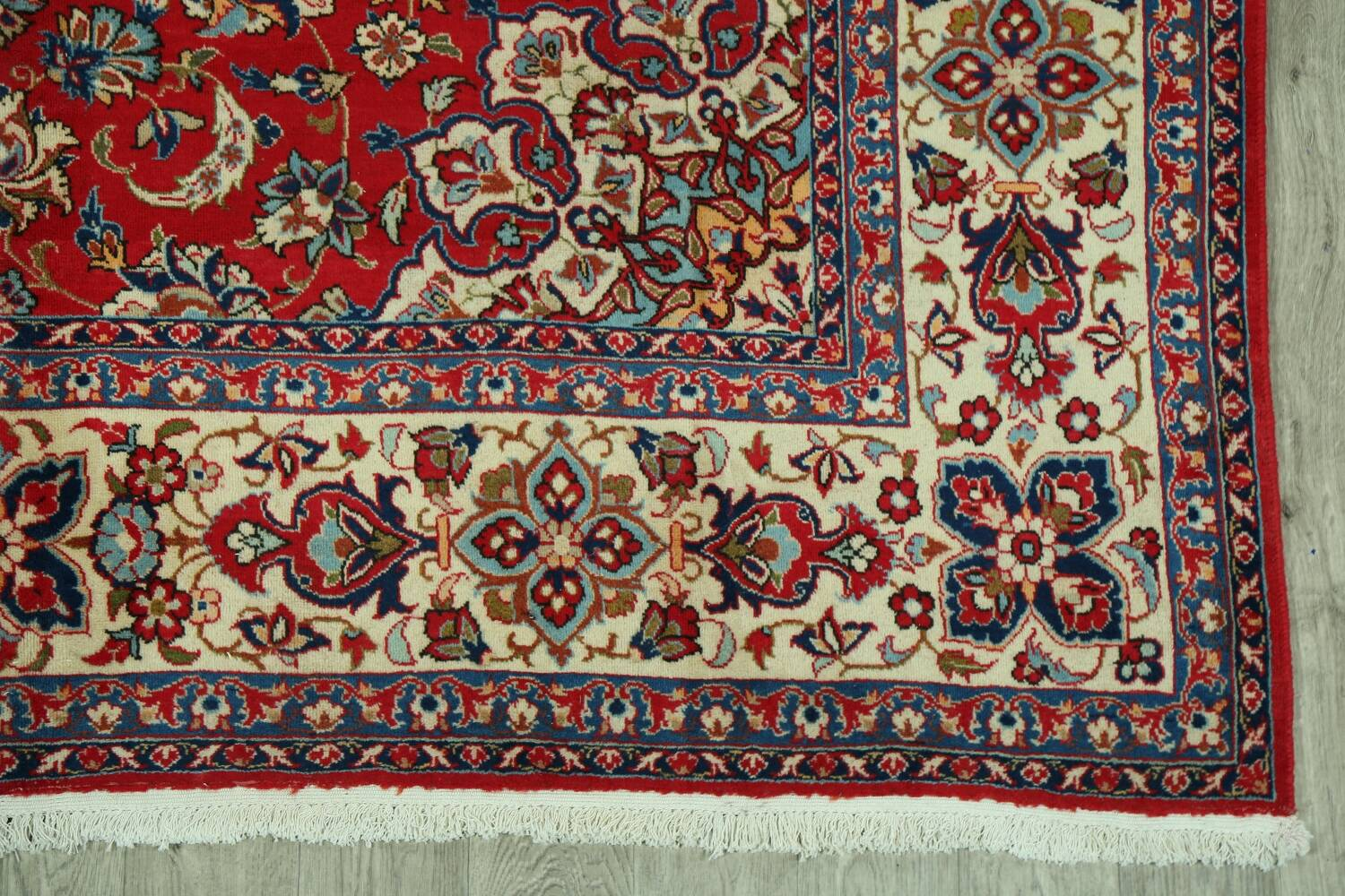Vintage Floral Red Najafabad Persian Area Rug 8x12 image 5