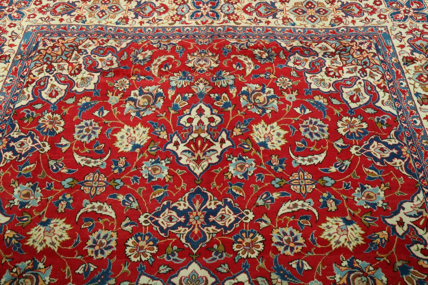 Vintage Floral Red Najafabad Persian Area Rug 8x12 image 14