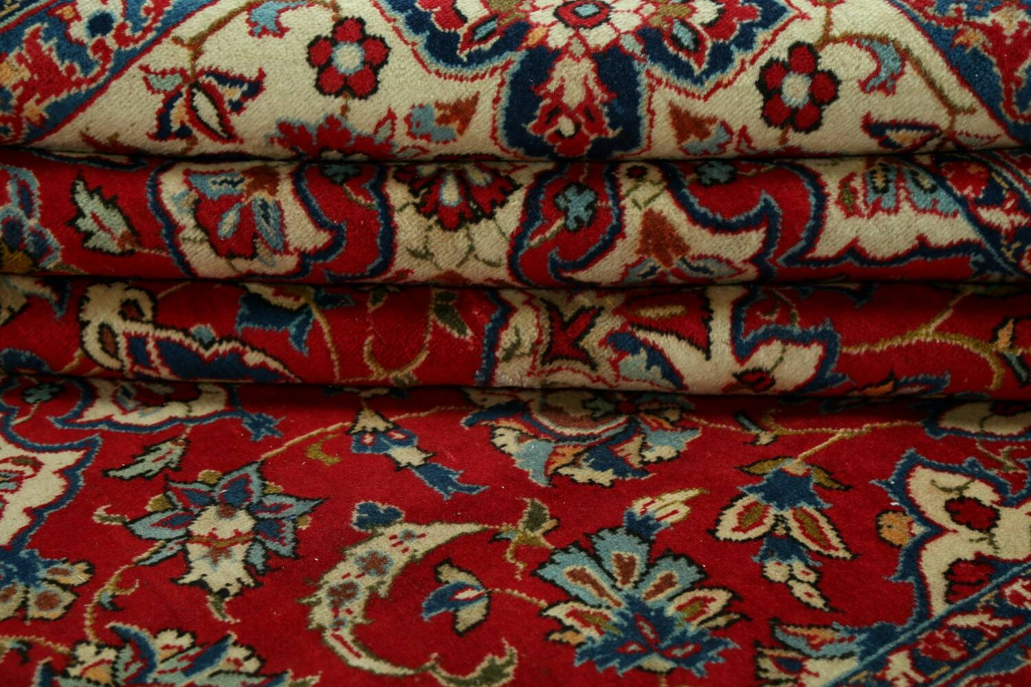 Vintage Floral Red Najafabad Persian Area Rug 8x12 image 18