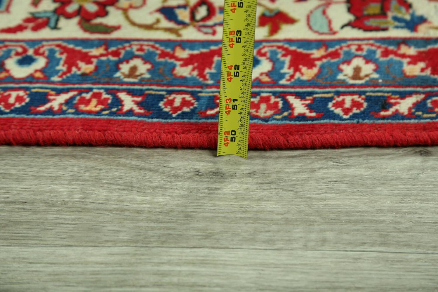 Vintage Floral Red Najafabad Persian Area Rug 8x12 image 22