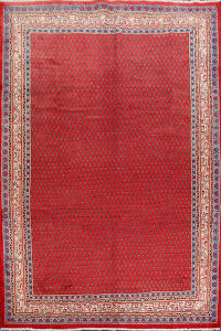 All-Over Red Boteh Botemir Persian Area Rug 8x11
