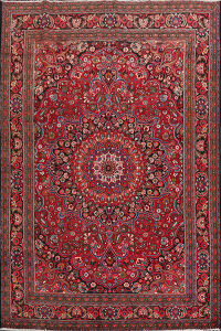 Vintage Floral Red Mood Persian Area Rug 7x11