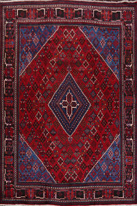 Geometric Red Joshaghan Persian Area Rug 9x12