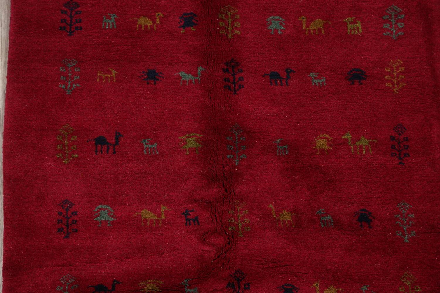Tribal Red Gabbeh Shiraz Persian Area Rug 4x5 image 4