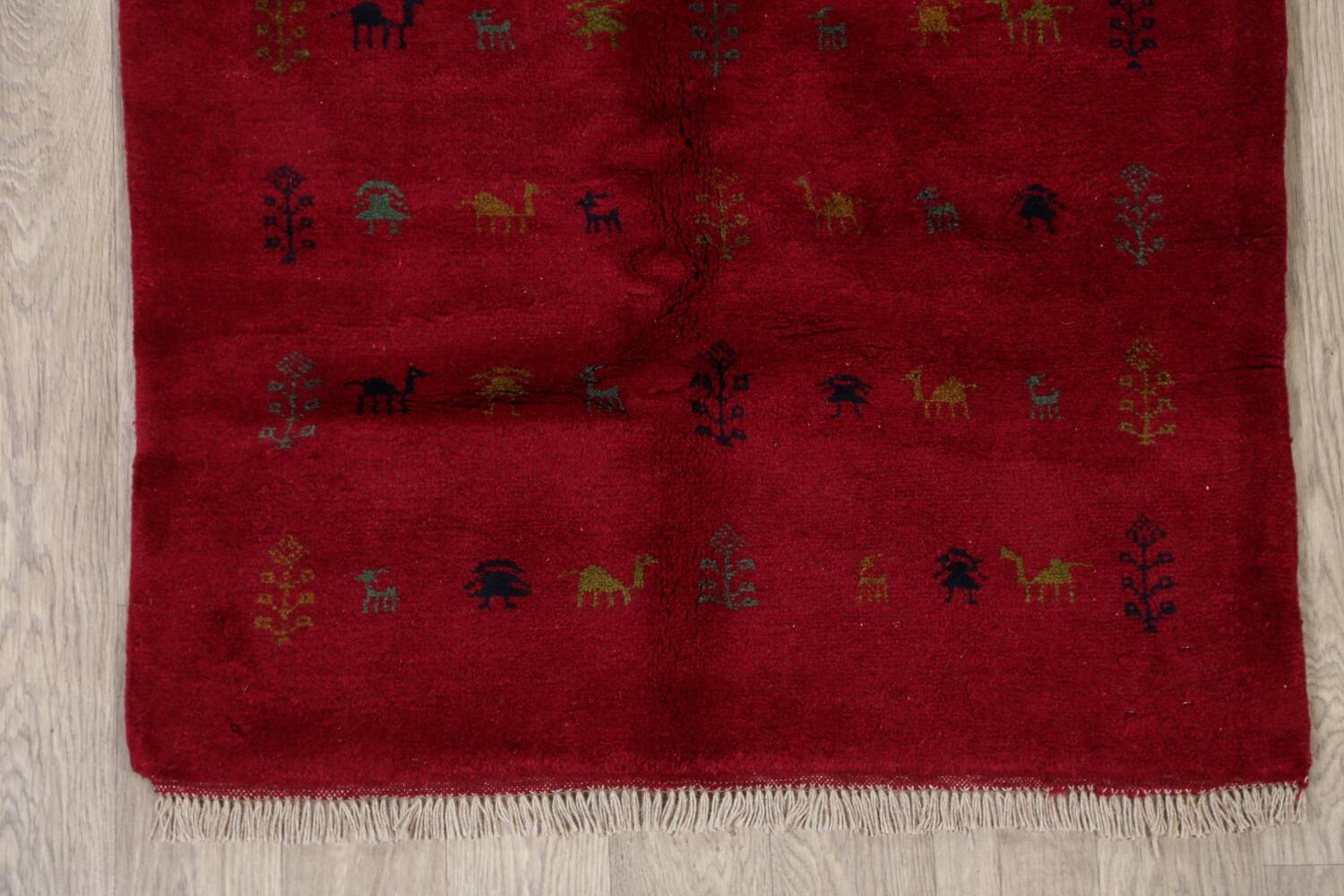Tribal Red Gabbeh Shiraz Persian Area Rug 4x5 image 8