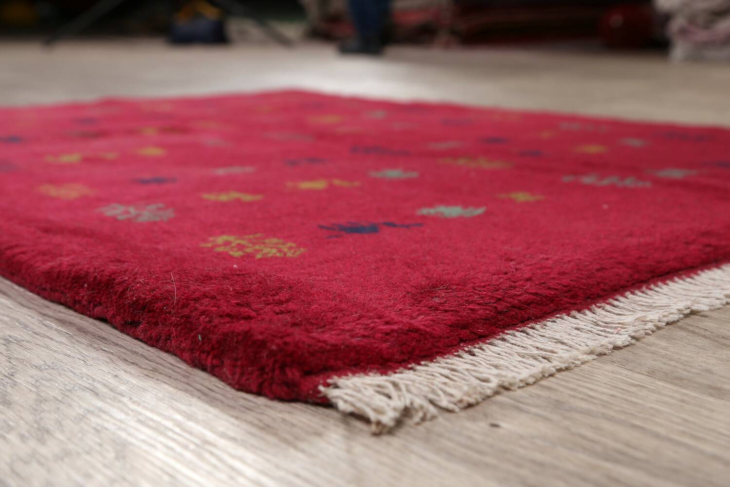 Tribal Red Gabbeh Shiraz Persian Area Rug 4x5 image 6