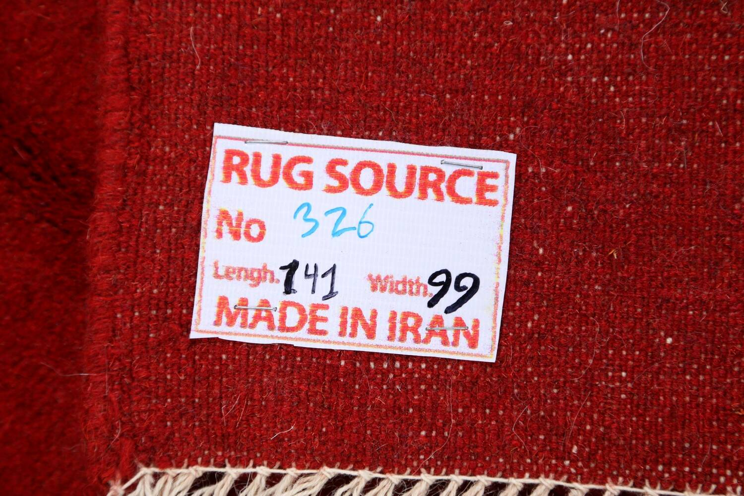 Modern Red Gabbeh Shiraz Persian Area Rug 3x5 image 17