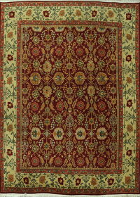 All-Over Red Floral Agra Oriental Area Rug 9x12