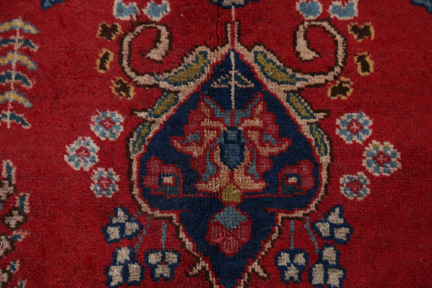 Vintage Floral Red Mashad Persian Area Rug 9x13 image 10