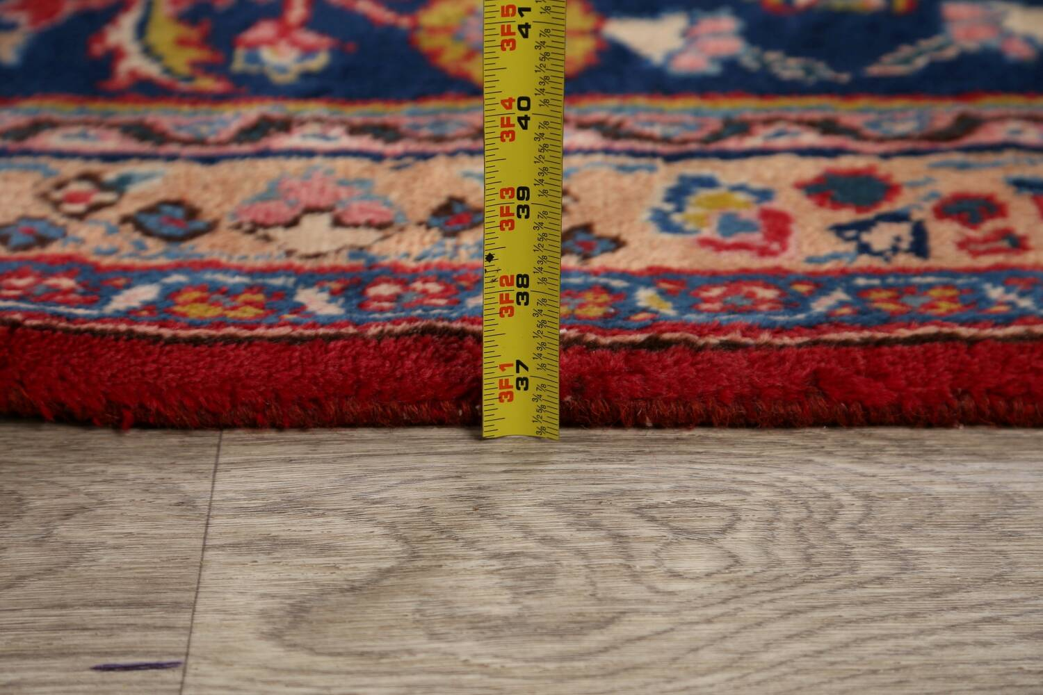 Vintage Floral Red Mashad Persian Area Rug 9x13 image 22