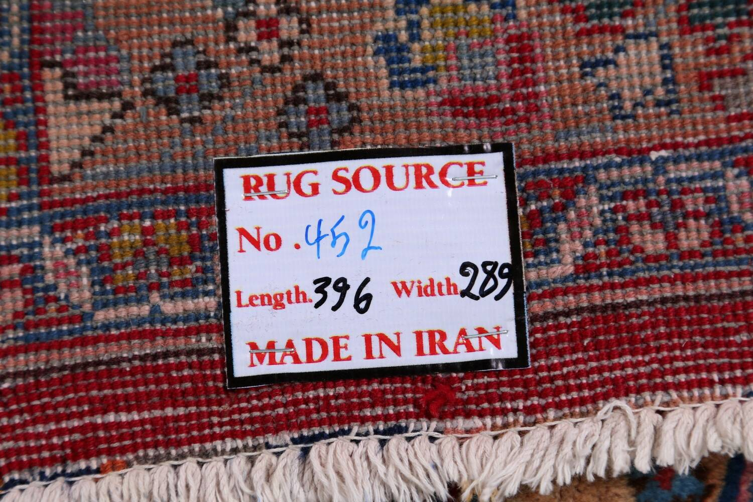 Vintage Floral Red Mashad Persian Area Rug 9x13 image 24
