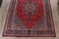 Vintage Floral Red Mashad Persian Area Rug 9x13 image 8