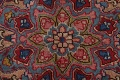 Vintage Floral Red Mashad Persian Area Rug 9x13 image 11
