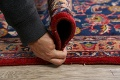 Vintage Floral Red Mashad Persian Area Rug 9x13 image 21