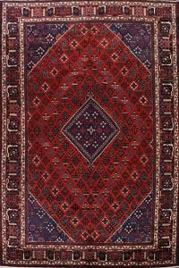 Vintage Geometric Red Joshaghan Persian Area Rug 9x13