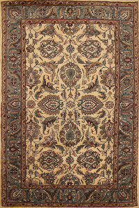 All-Over Floral Agra Oriental Area Rug 5x8