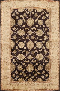 All-Over Floral Dark Maroon Agra Oriental Area Rug 5x8